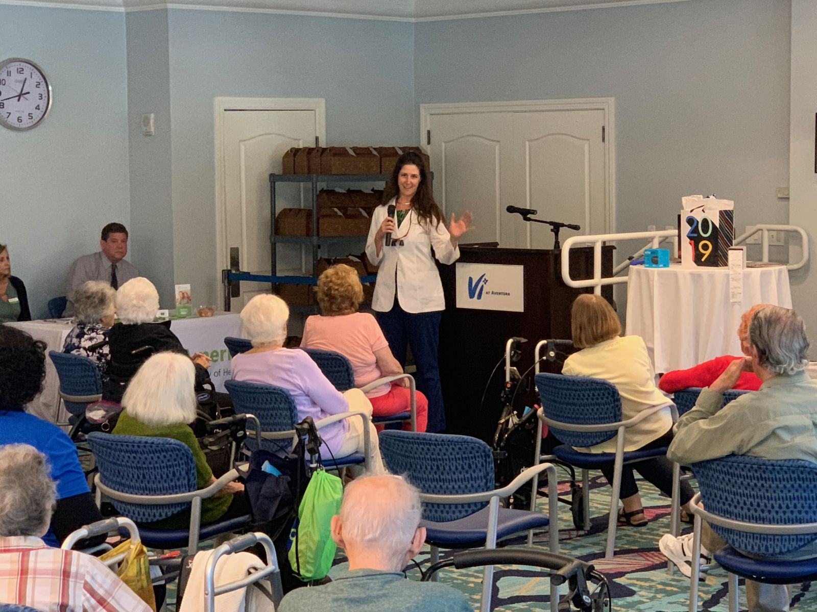 Aventura Dental Group participated at an Annual Senior Healthcare Event in Aventura Florida. Dr. Jessica Cismas spoke about the importance of staying healthy and the inportance of the oral hygiene. For more information about senior oral healthcare or how to find a great local dental practice near your facility, please call us.