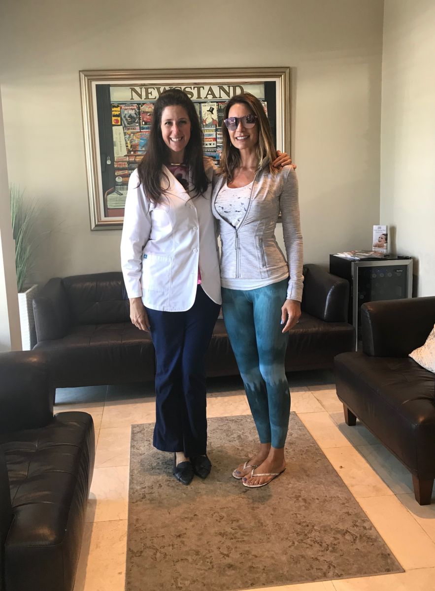 Thursday's patient of the day takes a picture with Dr. Jessica Cismsas at Aventura Dental Group, where we specialize in cosmetic dental procedures and laser teeth whitening.